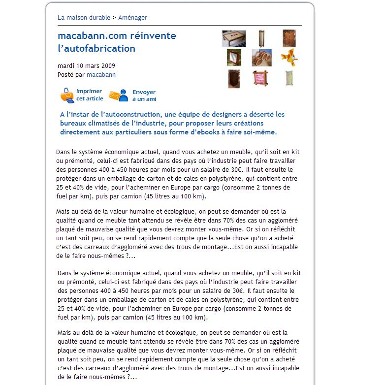 article de presse sur cdurable