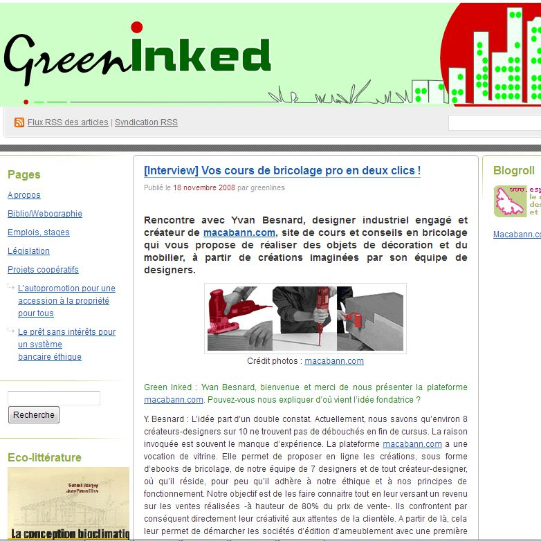 article de Greeninked sur macabann