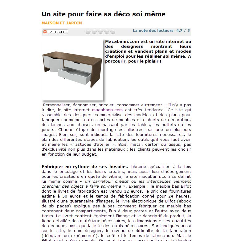 article sur manews