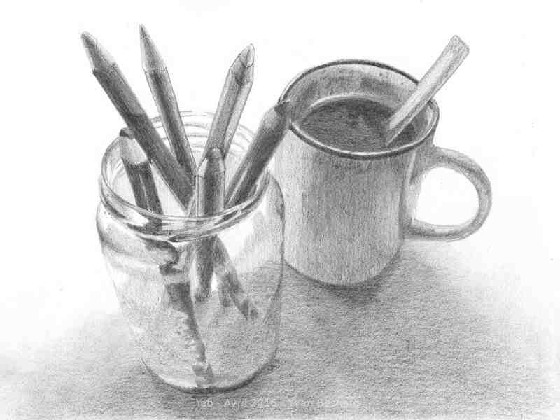 Voir le tableau moderne Transparence 02 un dessin aux crayons