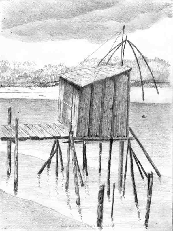 Voir La Cabane  un dessin contemporain au crayon