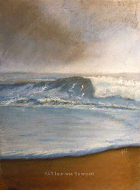 sea foam 06 pastel painting brittany by yab