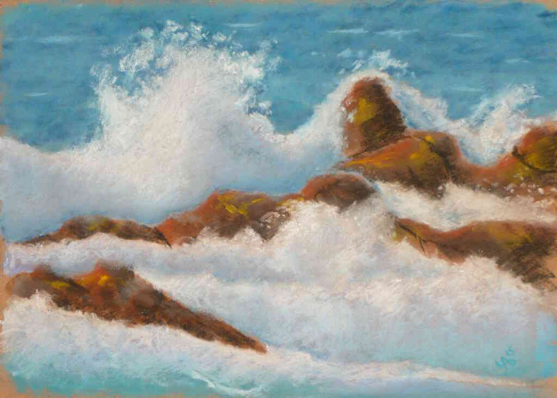 sea foam 07 soft pastel painting by yab
