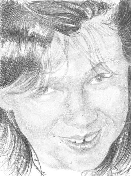 portrait de Gaelle 01 dessin au crayon