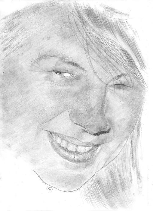 Portrait de Gaelle 02  croquis au crayon