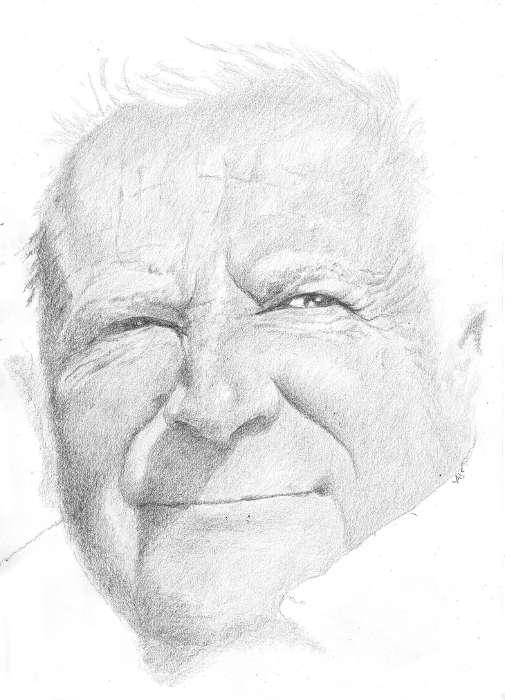 portrait de Marcel dessin réalisé au crayon
