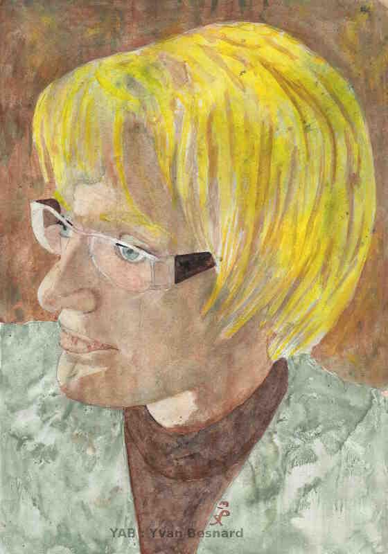 Offrir le Portrait de Mina peinture acrylique