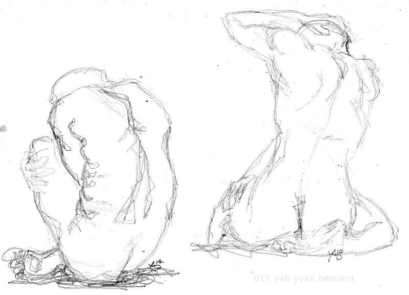 NU 002 : dessin à la graphite sur papier dessin A4