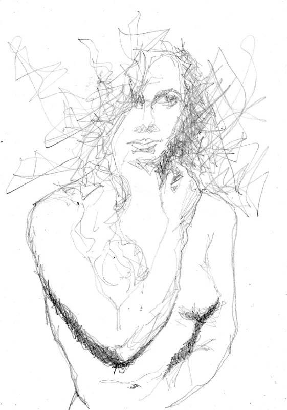 NU 004 dessin au crayon graphite sur format A4