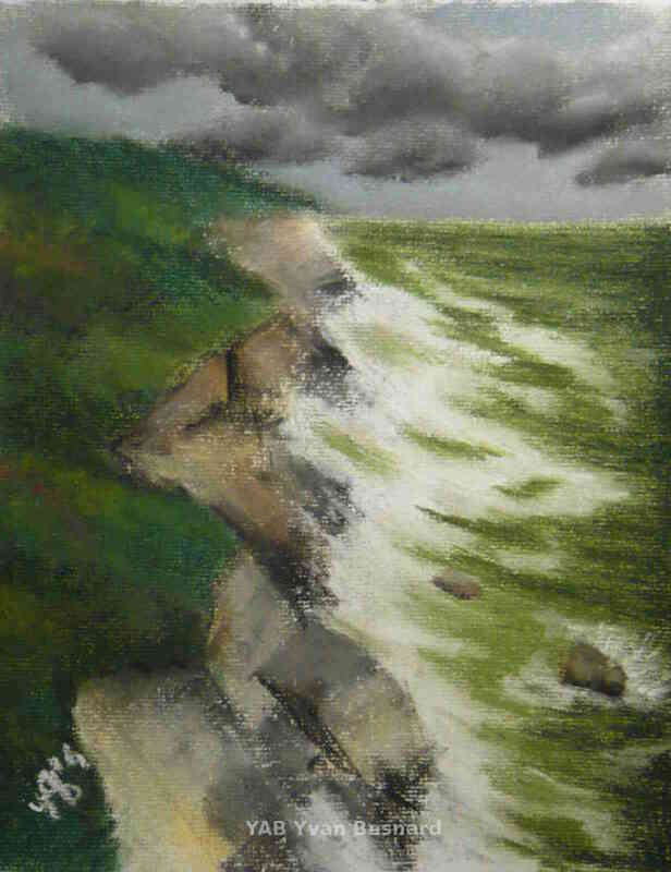 pastel artwork The Storm by contemporary artist Yab