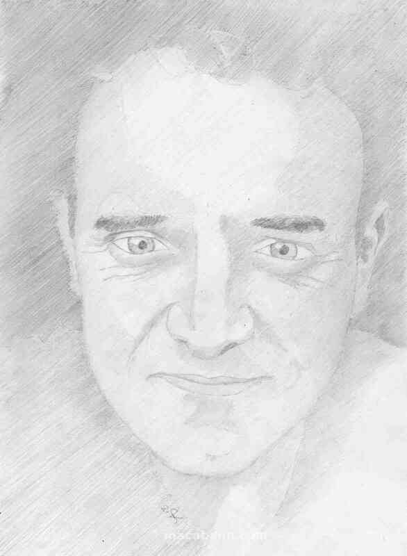 pencil portrait Thierry by yvan besnard