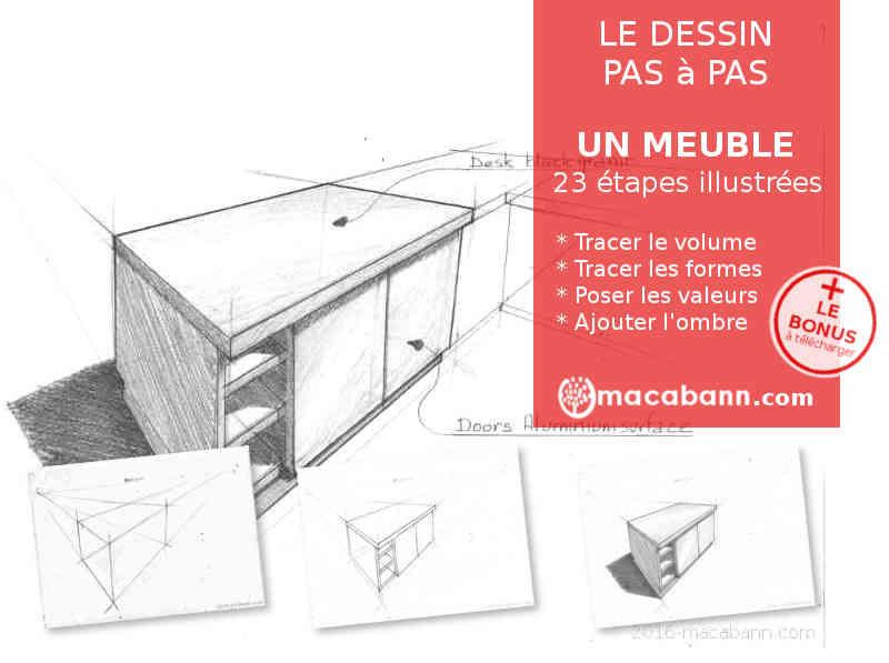 semaine 13 comment dessiner rapidement un meuble de cuisine au crayon. Black Bedroom Furniture Sets. Home Design Ideas