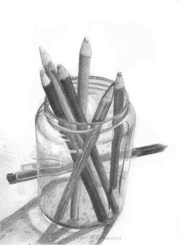 Voir Transparence 01 un croquis d'étude réalisé au crayon
