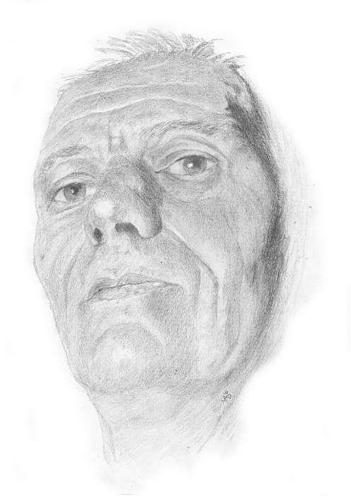 portrait de Yab : tableau dessin au crayon graphite