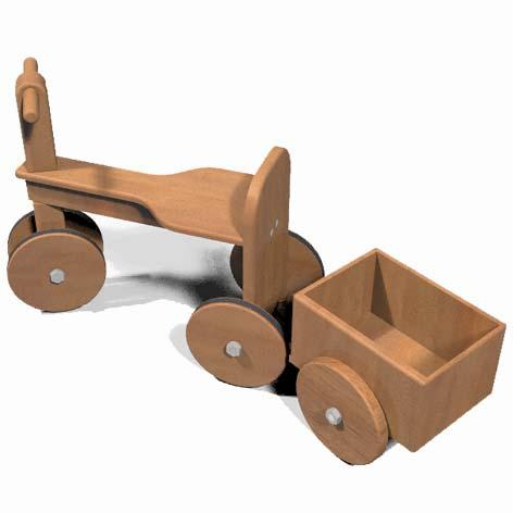 faire soi m me une charrette pour le tricycle en bois. Black Bedroom Furniture Sets. Home Design Ideas