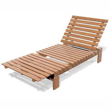 faire soi-même 2 sièges bain de soleil en bois Batsun