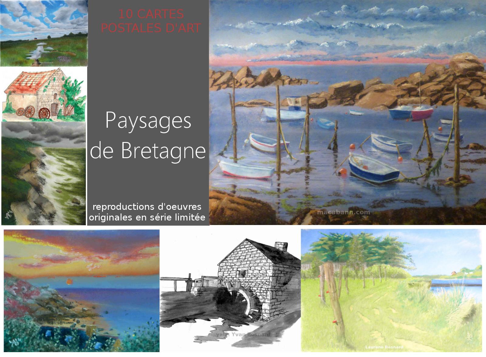 Offrez des cartes postales d'art : la collection Paysages de bretagne