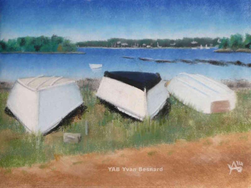 Fantastique voir la peinture originale au pastel sec La Plage de Berno LZ-45